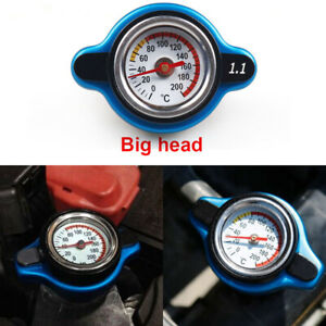 For Racing Thermostatic Gauge Radiator Cap 1.1 bar Big Head Water Temp Meter