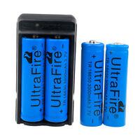 4PCxUltraFire 18650 3000mAh Battery 3.7v Li-ion Rechargeable Batteries+Charger