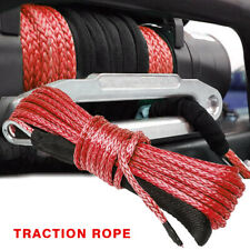 14x50 10000lbs Synthetic Winch Rope Line Recovery Cable 4wd Atv Utv W Sheath