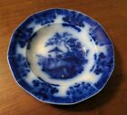 Antique Amoy Flow Blue Sauce Dish Davenport English Staffordshire 19th Century