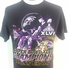 Baltimore Ravens T Shirt SUPER BOWL XLVII Champions 2013 Black Adult Large