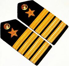 PAIR BRAND NEW US NAVY OFFICER HARD Shoulder Boards FOR CAPTAIN Rank FAST SHIP
