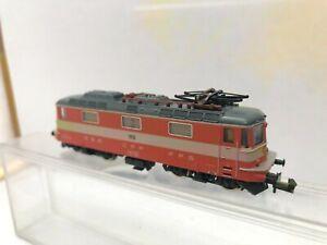 MINITRIX N 2976 - Locomotive électrique Suisse TBE + boîte origine