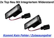 2x TOP Qualität LED Kennzeichenbeleuchtung Seat Leon 5F (X18