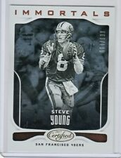 STEVE YOUNG 2017 Panini Certified IMMORTALS Base Card #110 SP 644/999 SF 49ers