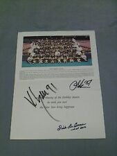 Signed Pgh Steelers, 1995 Christmas Card (3), LeBeau, Lake and Greene, Decent