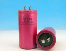 2000Uf 50V Vintage Tesla Tc 937a 70x35 Electrolytic Capacitor 2000uF 50V / Nos