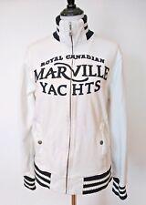Royal Canadian Marville Club Yachts White Full Zipper Sweatshirt Size XL