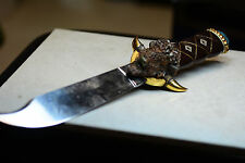 Franklin Mint Bison Buffalo Head Knife Man Cave Worthy Incredible  14 inches