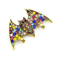 Betsey Johnson Multi-Color Crystal Rhinestone Bat Charm Animal Brooch Pin Gift