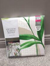 Neuf Prochain Japonais Bambou Vert & Blanc De Couette Double Bedset Literie RRP ...