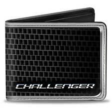 Men Wallet Bifold Black Dodge Challenger SRT Bold Grille Logo Genuine