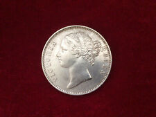More details for east india company victoria rupee and quarter rupee silver coins