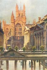 The grand Pump-Room and Abbey, Bath. Somerset. By Ernest Haslehust 1920 print