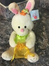 """Hopsy"" The Bunny plush Godiva  2010 collectible with yellow bag *VINTAGE*"
