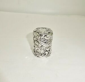 ANTIQUE GEORGE SHIEBLER TIFFANY SCROLL STERLING SILVER THREAD/THIMBLE HOLDER BOX