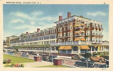 ATLANTIC CITY, New Jersey  NJ   BRIGHTON HOTEL   1940s Linen Roadside  Postcard