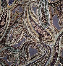 OSBORNE & LITTLE /Nina Campbell Braemar paisley blue washable new remnant
