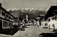 Bad Kohlgrub in Oberbayern alte Ansichtskarte 1962 Dorfpartie in der Hauptstraße