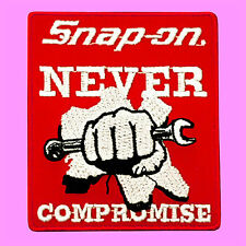 Snap On Never Compromise Motor Racing Hand Tools Badge Embroidered Iron On Patch