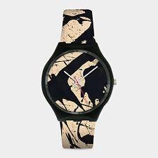 High-Quality Jackson Pollock Black & White Wrist Watch for Men & Women