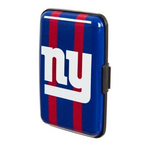 New York Giants Hard Case Wallet Card Holder - Authentic NFL Product