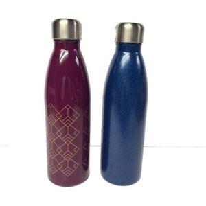 2 Room Essentials Water Bottles Magenta + Blue Glitter NEW