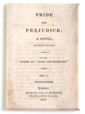 Pride & Prejudice FRIDGE MAGNET (2.5 x 3.5 inches) first edition Jane Austen
