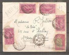 LETTRE COTE DES SOMALIS PAR AVION POUR LA FRANCE OBLITERE DJIBOUTI 1938