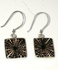 Feine Manufakturarbeit: Silber 925 Ohrhänger mit gefassten dekorativen Muscheln