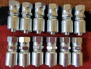 12 Parker Hydraulic Crimp Connector 1GU43-8-8