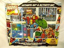 Marvel Comics Avengers 100+ Art and Activity Set-Markers,Paints,Crayons,Pads-New