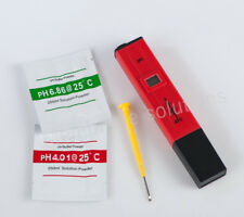 Handy Digital Lcd Ph Meter Tester High Accuracy for Fish Tank Pool Tap Water Red