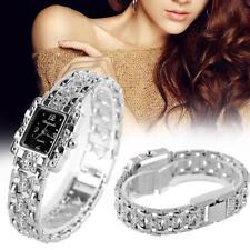 Fashion Girl Women Bracelet Quartz Wrist Watch Silver Butterfly Strap