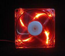 80mm 25mm Case Cabinet Fan Kit 110 115 120 VAC 33CFM Sleeve Red LED 8025 1478*