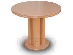 Round Table Dining Room Living Wood Extendable up To 90 X 240 CM