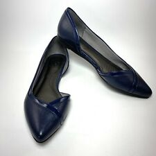 LifeStride Womens Quemela Navy D'Orsays Ballet Flats Shoes Size 9.5 MINT