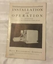 JE091 1939 Installation Operation Manual Jennings Unit Type Vacuum Heating Pump