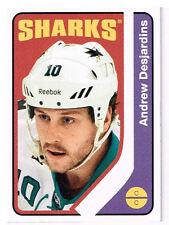 14-15 O-Pee-Chee Retro BLANK BACKS Andrew DESJARDINS #490 - Sharks
