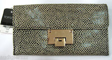 Topshop real leather long metal lock purse wallet - dotted
