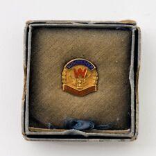 Vintage 10K Yellow Gold & Enamel Winchester 45 Years Service Employee Award Pin
