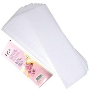 100x Pre-Cut Strips Pack Non Woven Disposable 70gsm Wax Waxing Papers Cut