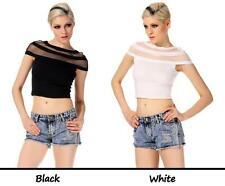 Mesh Hand-wash Only Crop Tops for Women