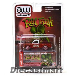Auto World 1:64 Rat Fink 1978 Chevy Cheyenne 10 Rat Rod Weathered Chase CP7723B