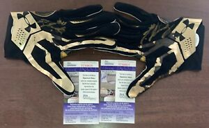Jerry Jeudy Game Used Gloves Under Armour All American Game Signed Broncos JSA