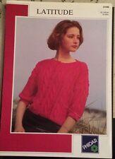 Phildar Ladies 3/4 Sleeve Cable Cardigan Knitting Pattern 2148