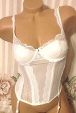 Womens Bustier 34B Victoria's Secret White Lace Bride Bridal Wear