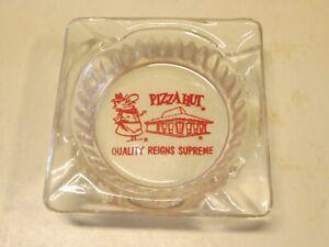 Vintage 1970s PIZZA HUT RESTAURANT ASHTRAY, Red Thermoglazed Design
