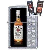 Zippo 7791 Jim Beam Bourbon Lighter with *FLINT & WICK GIFT SET*