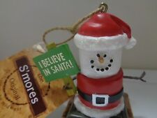 Midwest of Cannon Falls S'mores Original Xmas Believe in Santa Ornament New Tag